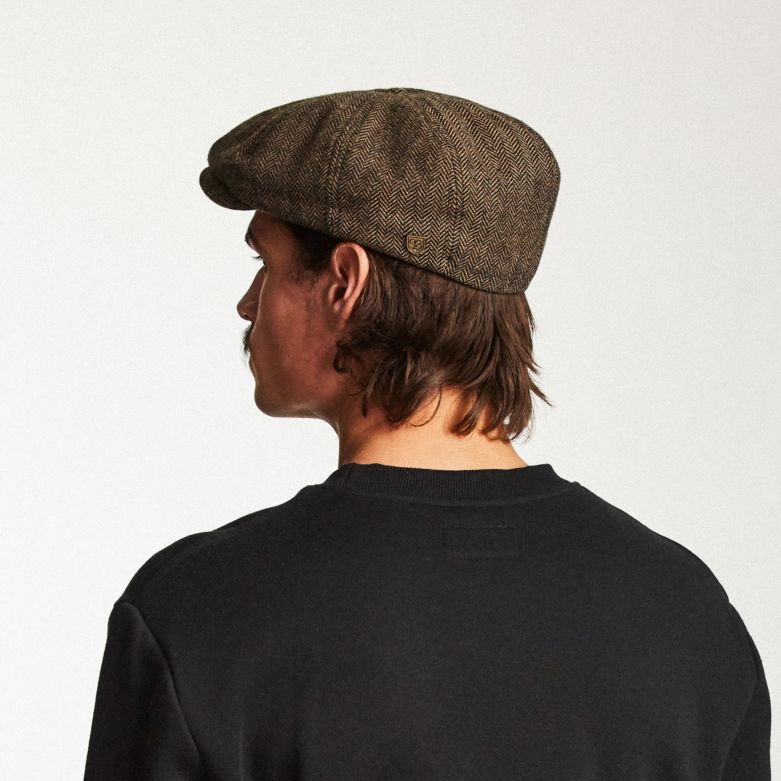 Brood Snap Cap in Brown Khaki for Men - Brixton