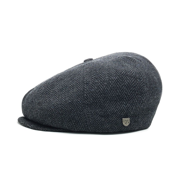 Brood Snap Cap in Grey Black - Brixton