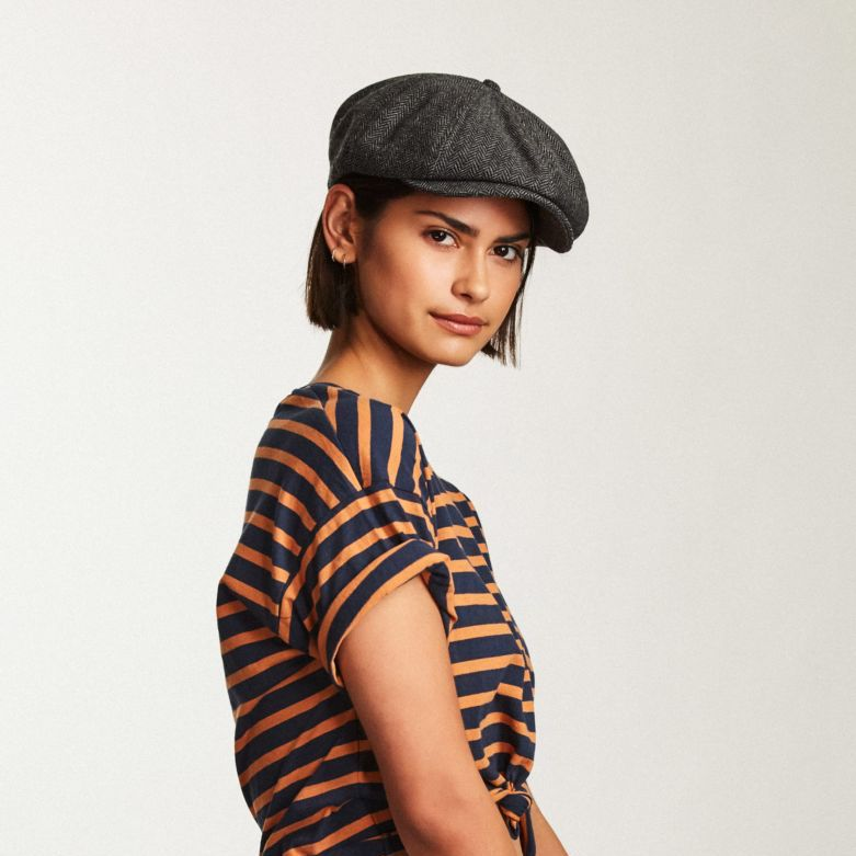 Brood Snap Cap in Grey Black for Women - Brixton