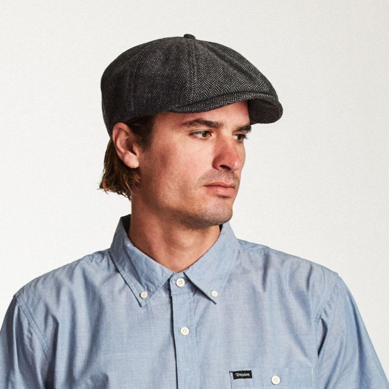 Brood Snap Cap in Grey Black for Men - Brixton