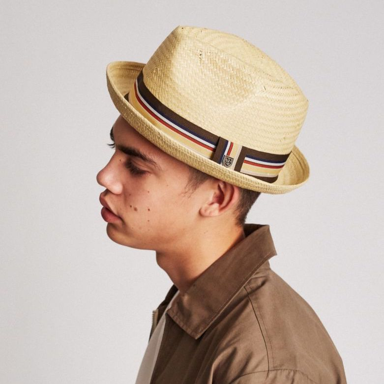 Castor Straw Fedora in Tan - Brixton