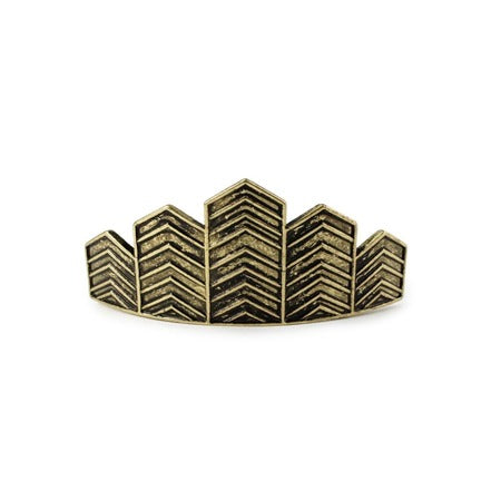Chevron Bun Pin - Gold - Kitsch