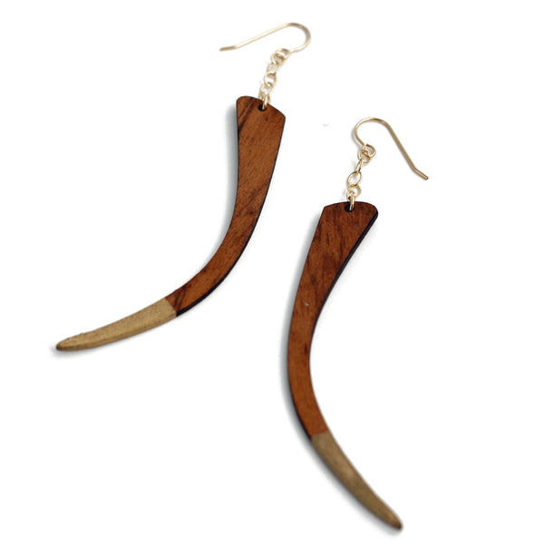 Claws Out Wood Earrings - Company Kind