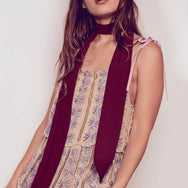 Cordella Scarf - Burgundy - Vanessa Mooney