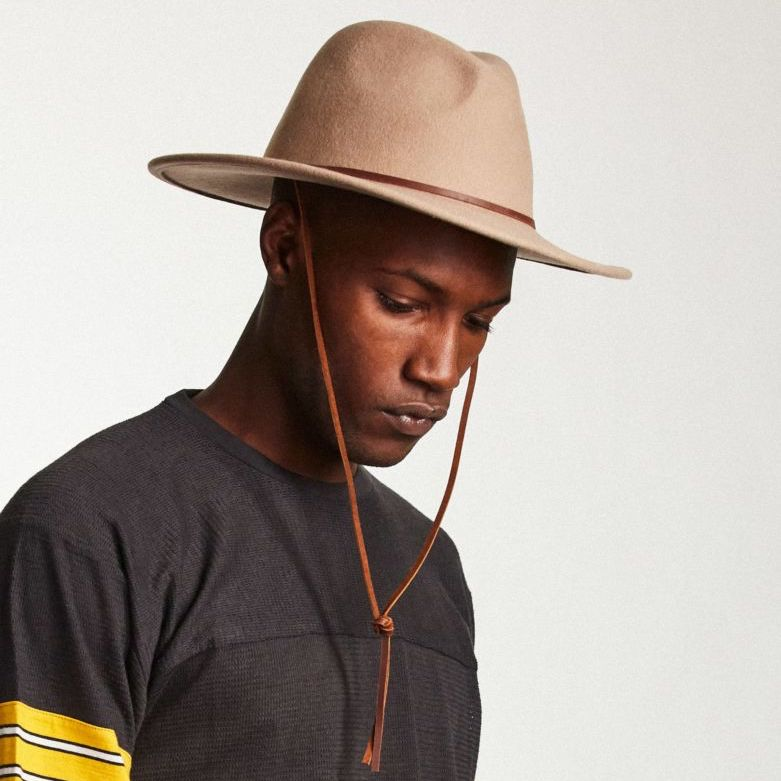 20a398158c5 ... Field Hat in Fawn for Men - Brixton ...