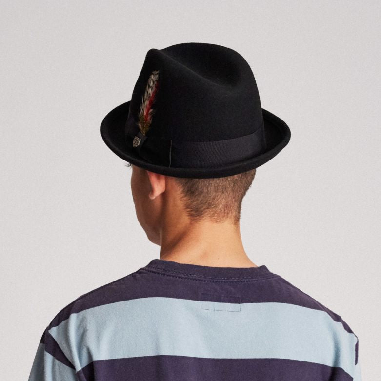Gain Fedora in Black - Brixton