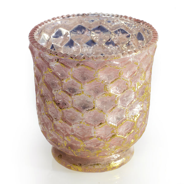Honeycomb Blush Votive Holder - 3 x 3.25