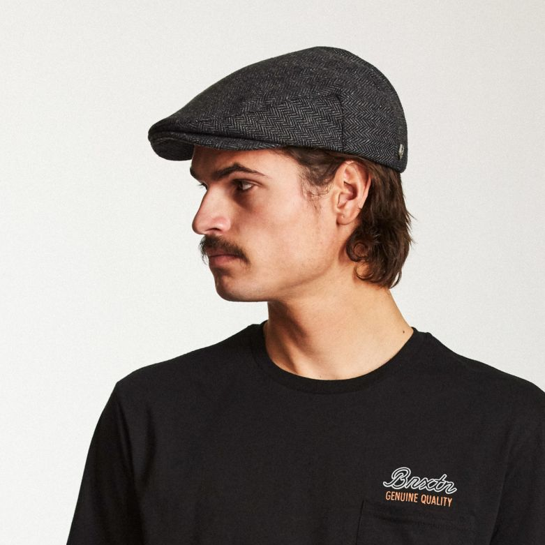 Hooligan Snap Cap in Grey Black for Men - Brixton