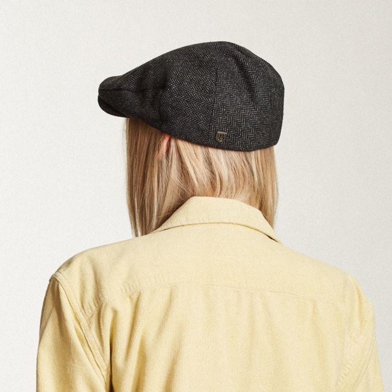 Hooligan Snap Cap in Grey Black for Women - Brixton