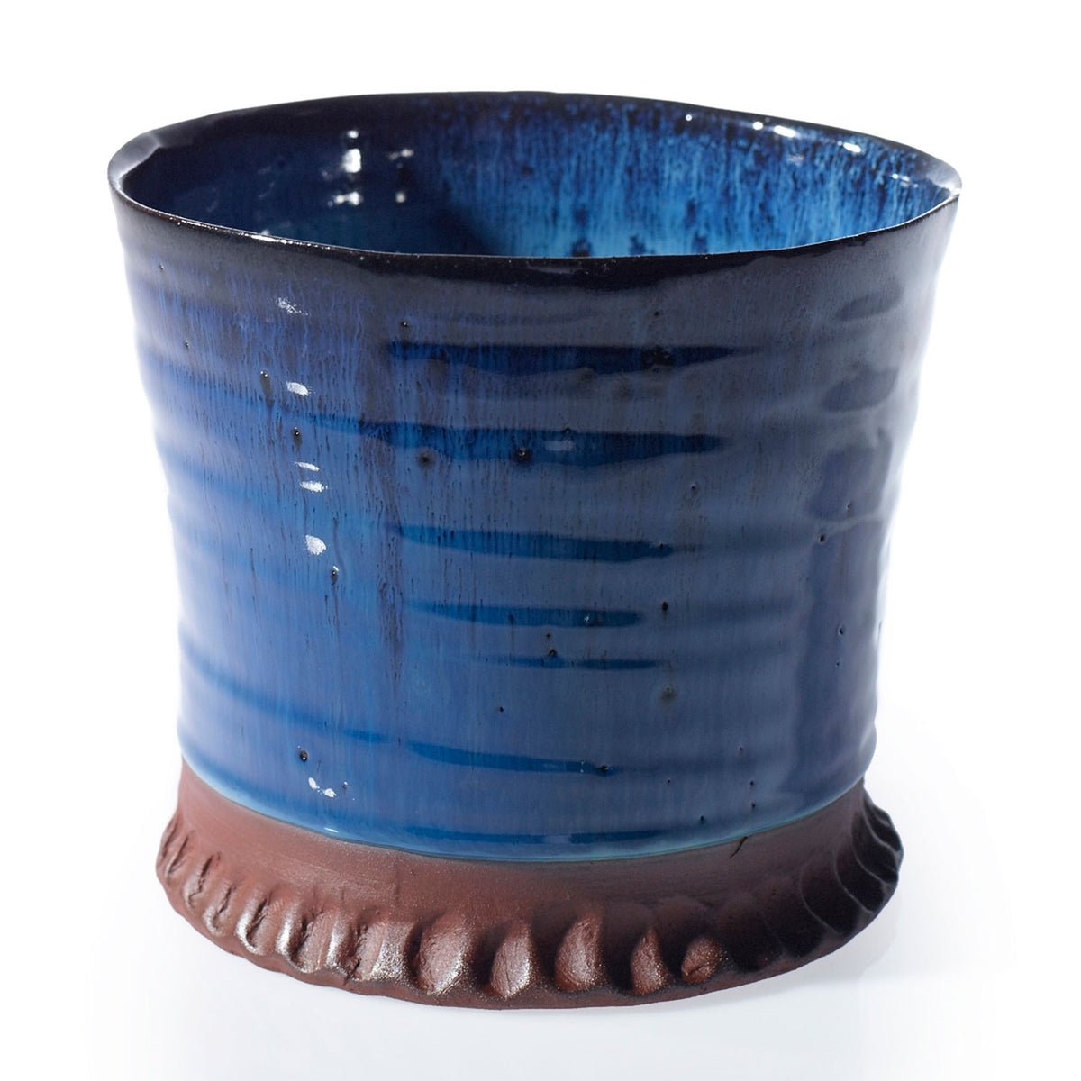 Indigo Ceramic Pot - 6.5 x 5.75