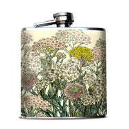 Ivory Flowers Hip Flask 6 oz