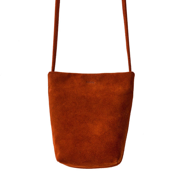 Rust Suede Leather Cross Body - Baggu