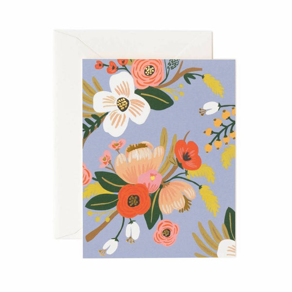 Lively Floral Card Set - Periwinkle - Rifle Paper Co.