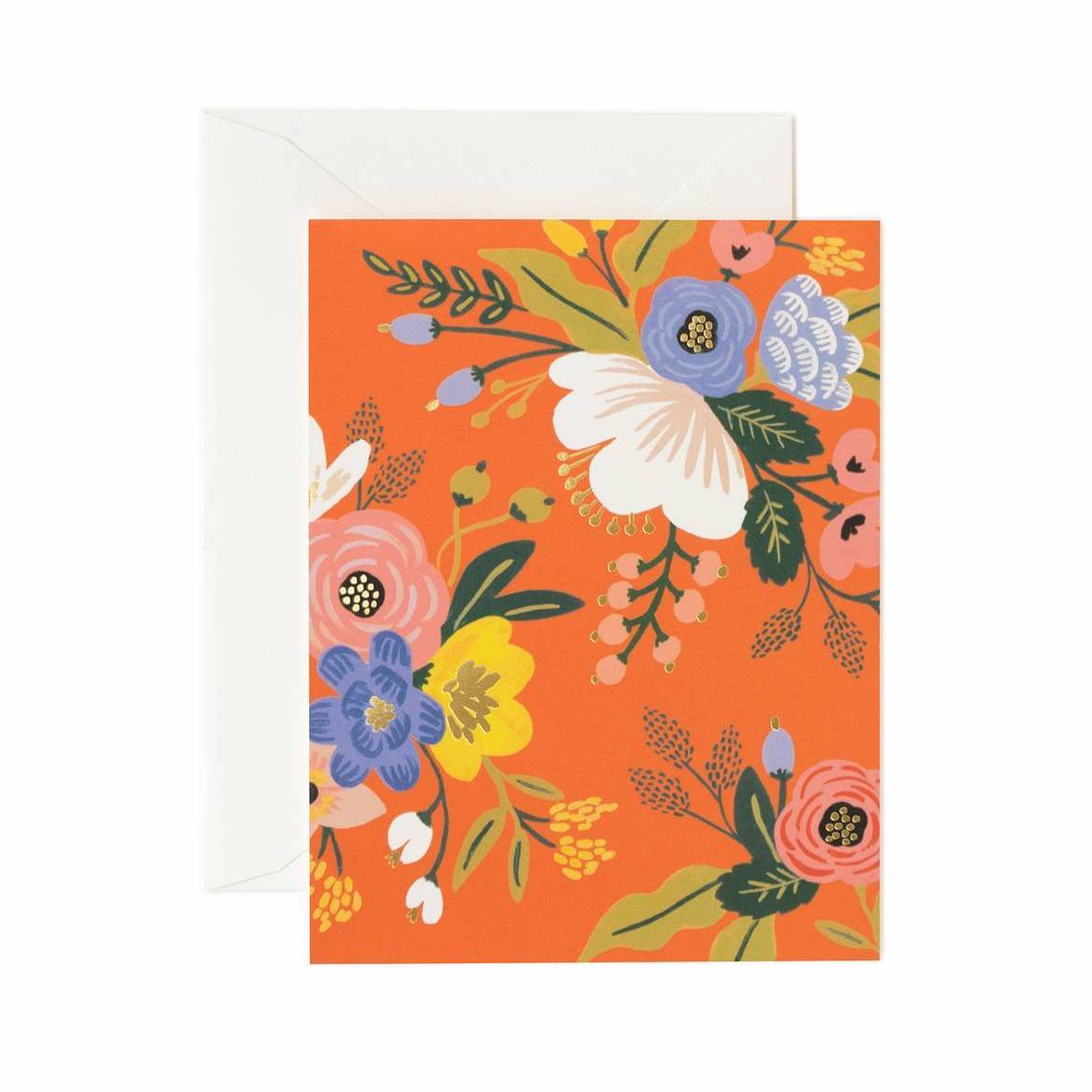 Lively Floral Card Set - Red - Rifle Paper Co.