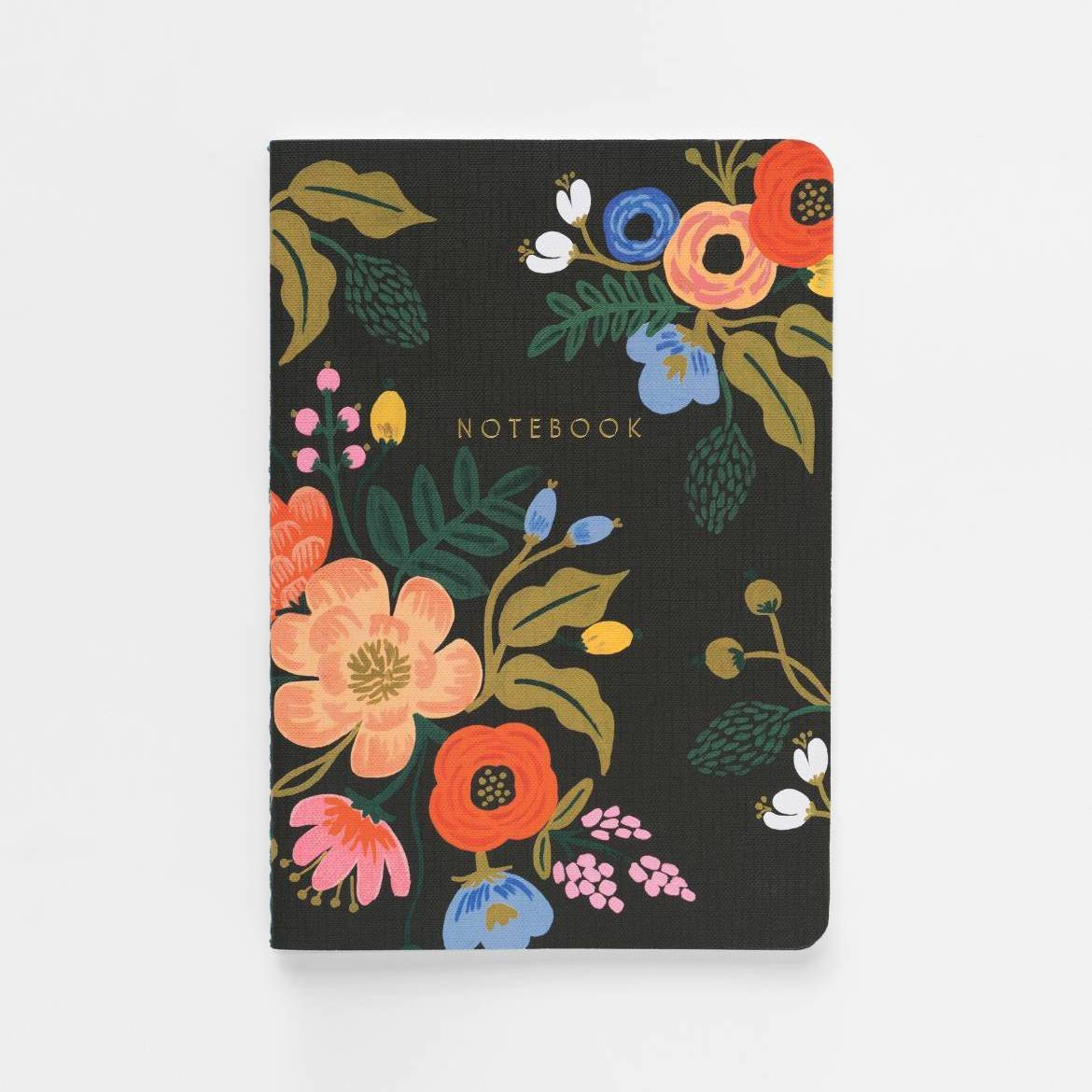 Lively Floral Notebook Set - Black - Rifle Paper Co.