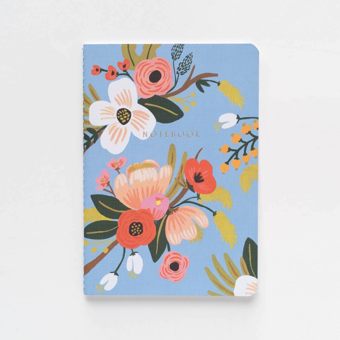 Lively Floral Notebook Set - Periwinkle - Rifle Paper Co.
