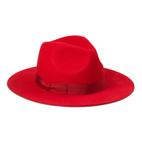 Love Lost Ruby Red Fedora Hat - Lack of Color