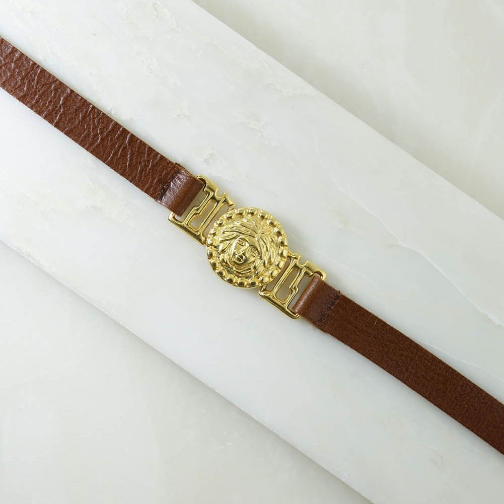 Vanessa Mooney Medusa Belt - Brown and Gold