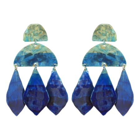Ocean Ombre Kalaiya Earrings - We Dream in Colour