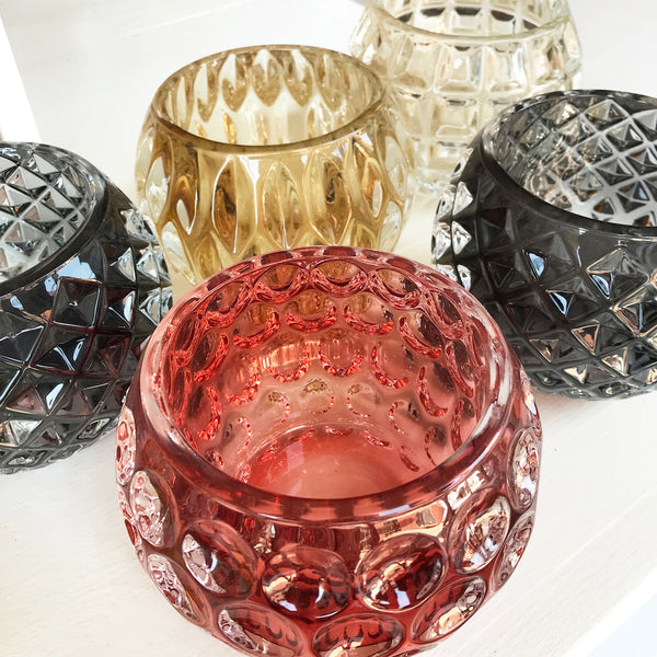 Orb Glass Votive Holder - Assorted Styles
