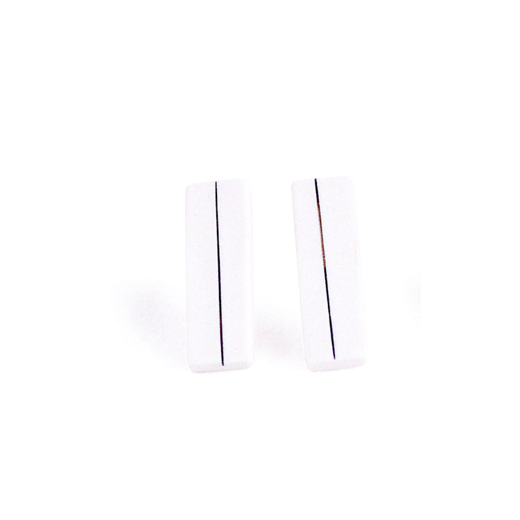 Pinstripe Bar Earrings - Single Stripe - Jenna Vanden Brink Ceramics