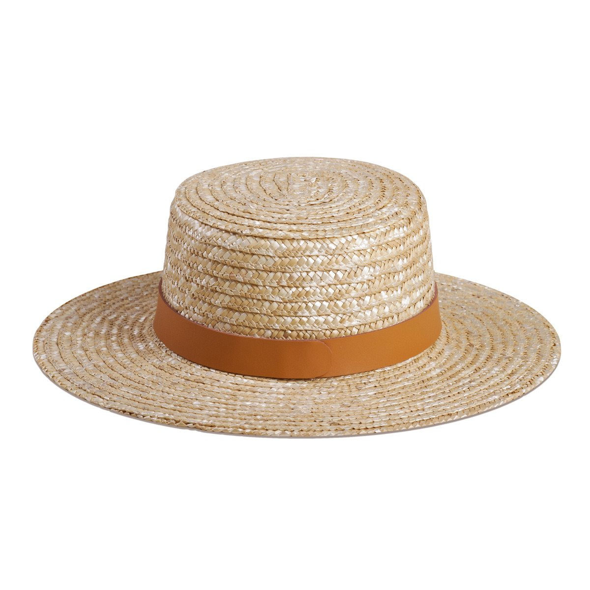 Spencer Terracotta Natural Straw Boater Hat - Lack of Color