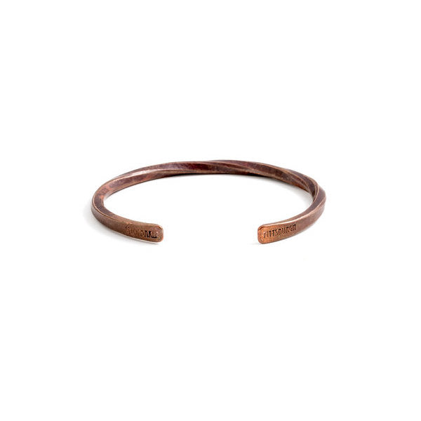 Studebaker Cuff - Copper with Work Patina - Studebaker Metals