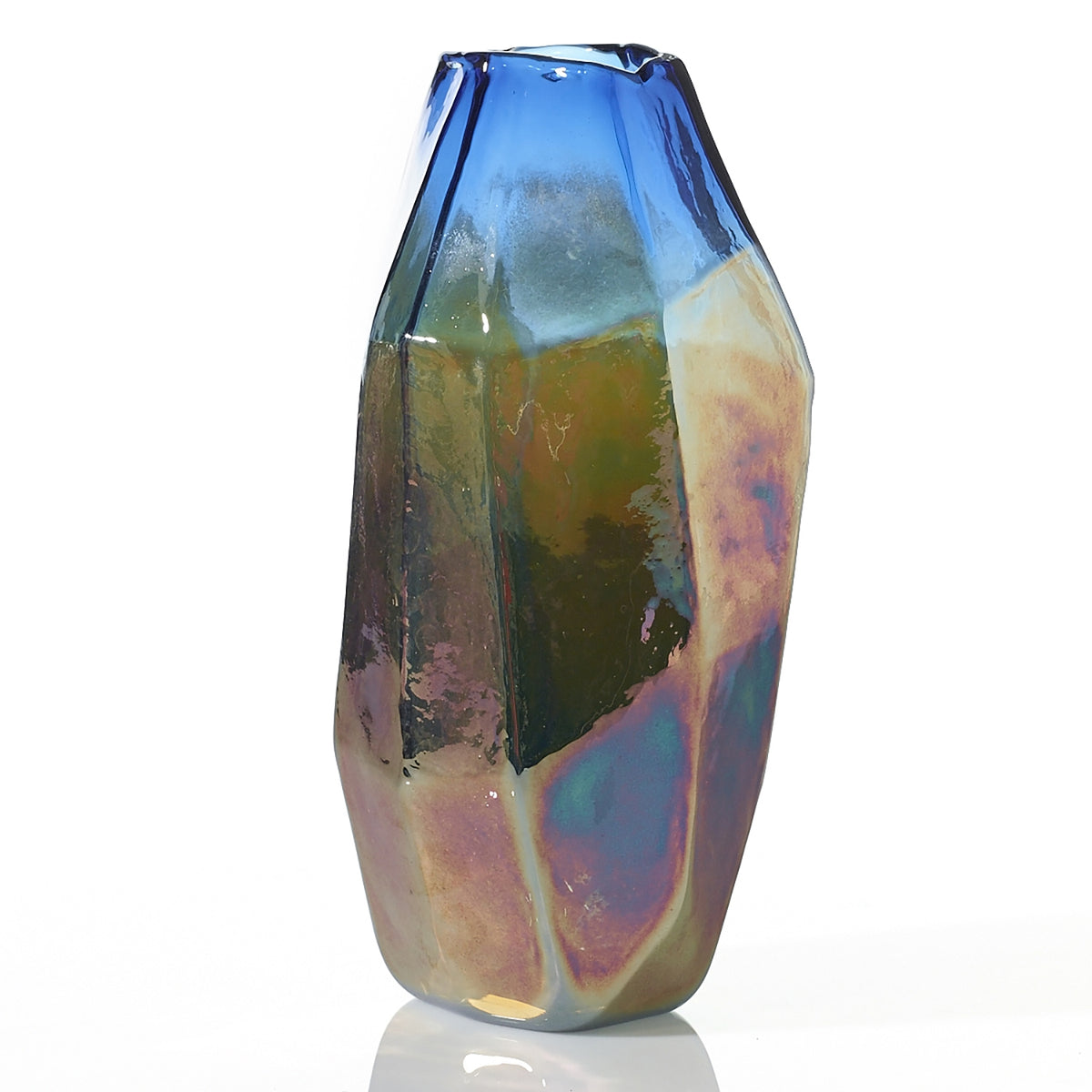 Studio Vase - Colored Glass - 4.5 x 12