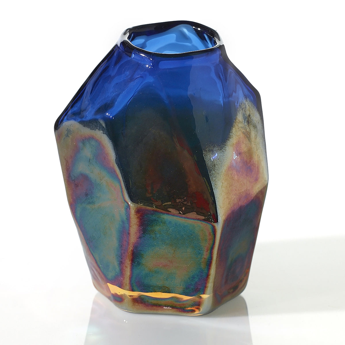 Studio Vase - Colored Glass - 4 x 3.5 x 4.75
