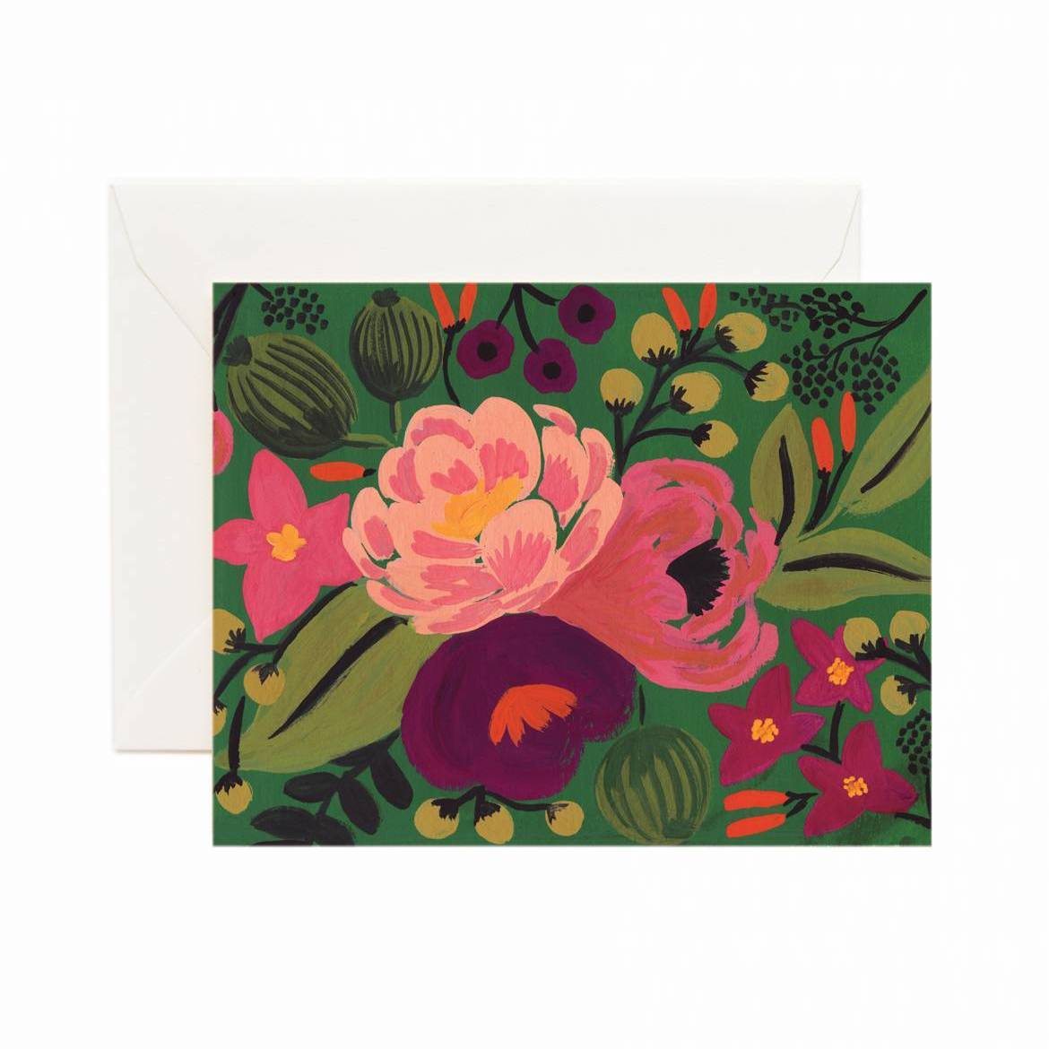 Vintage Blossom Card Set - Emerald - Rifle Paper Co.