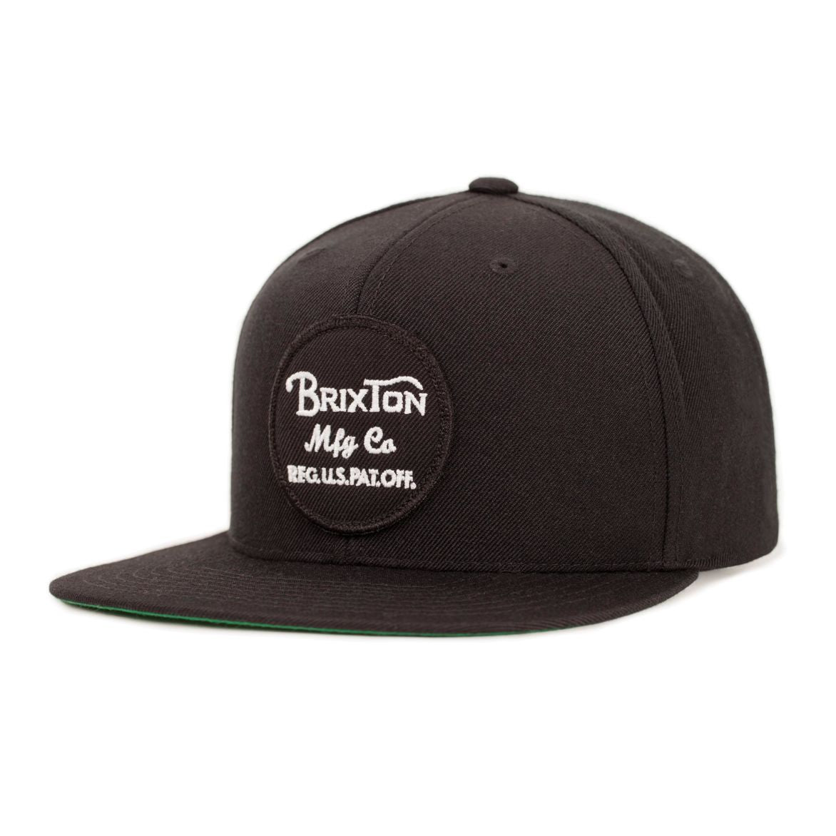 Wheeler Snapback in Black - Brixton