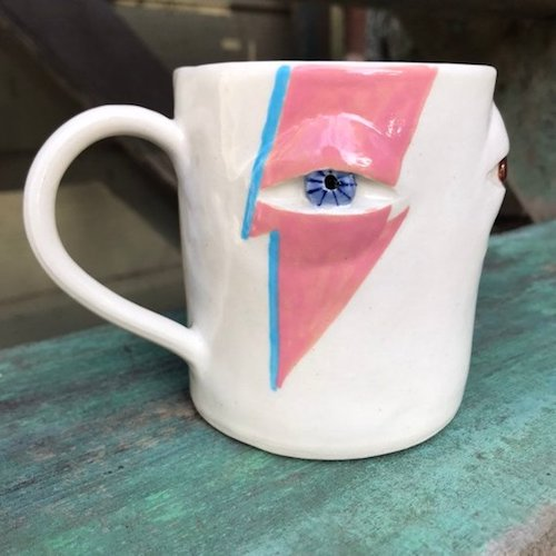Crooked Curiosities Ziggy Stardust Ceramic Mugs