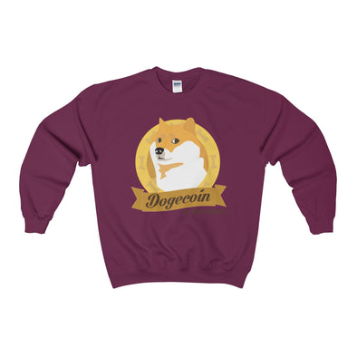 Dogecoin to the Moon Crewneck Sweatshirt