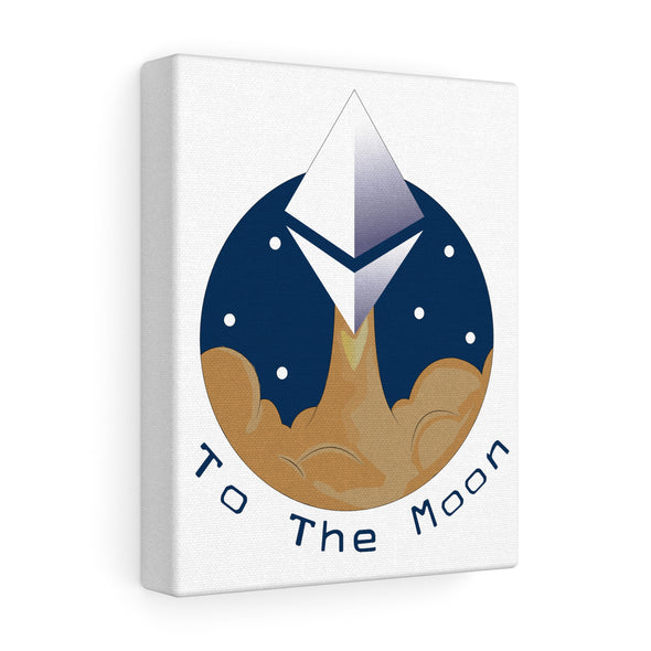 ETH To The Moon Canvas Print