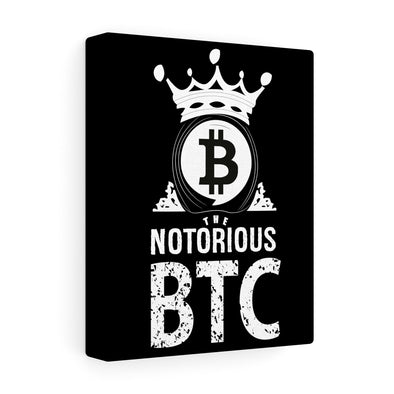 Notorious BTC Canvas Print