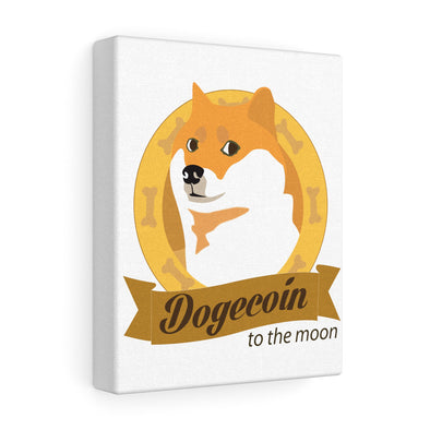 Doge To The Moon Canvas Print