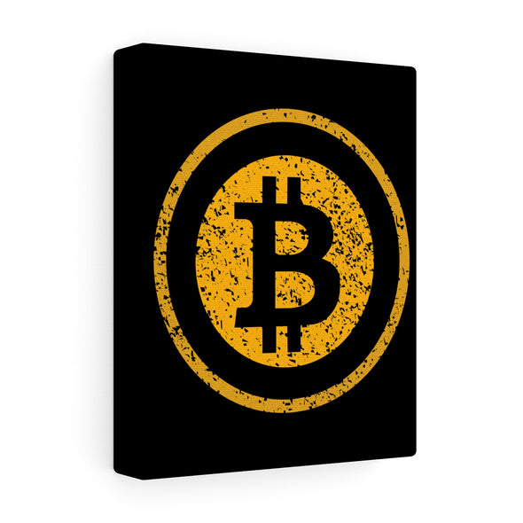 BTC Distressed Logo Canvas Print