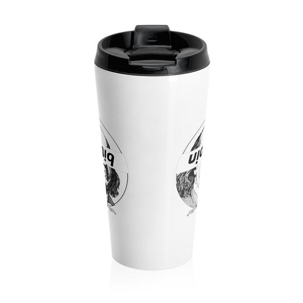 Bitcoin Ben Stainless Steel Travel Mug