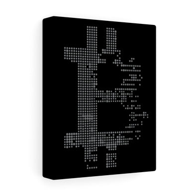 BTC Dot Matrix Canvas Print