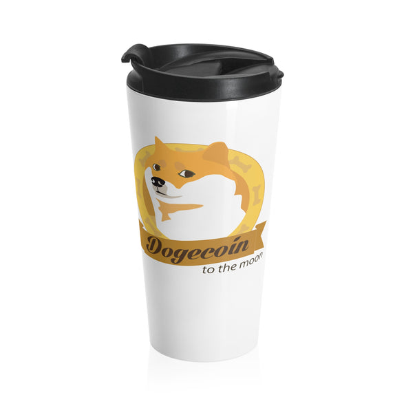 Doge To The Moon Stainless Steel Travel Mug