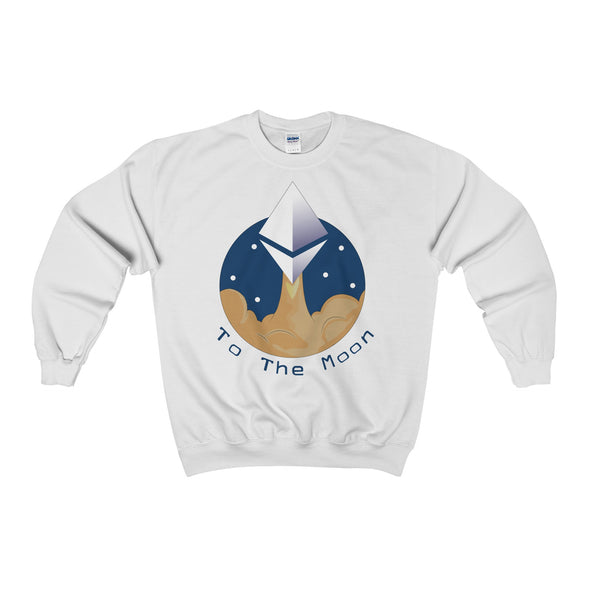ETH To the Moon Crewneck Sweatshirt