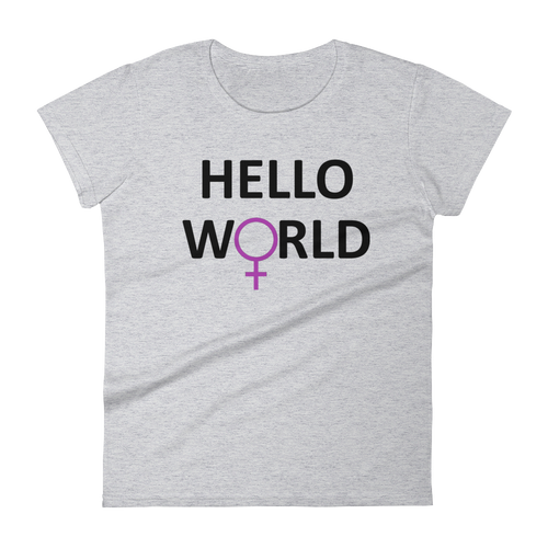 Hello World Women's - Black Print