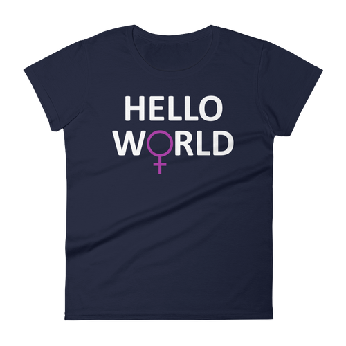Hello World Women's - White Print