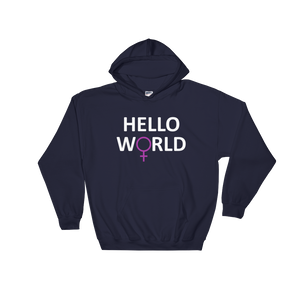 Hello World Hooded Sweatshirt (White Print)