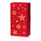 """Modern Red Stella"" (with gold embossing) - 2er Gift Box"