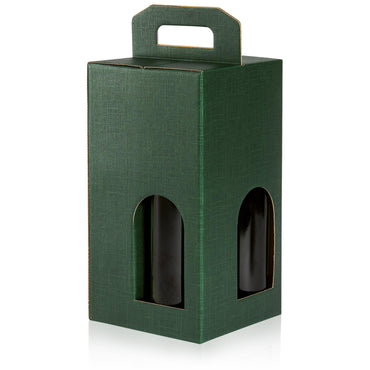 """Seta Green"" - Structural Embossed 4er Carrying Box"
