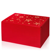 """Modern Red Stella"" (with gold embossing) - 6er Gift Box"