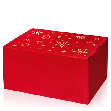 """Modern Red Stella"" (with gold embossing) - 6er Gift Box sorry we are sold out"