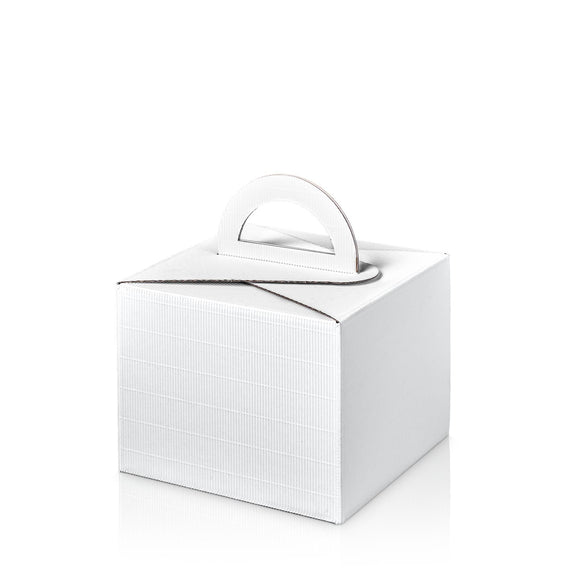"""Modern White"" - Allround box with carrying handle"