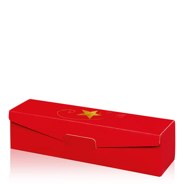 """Modern Red Stella"" (with gold embossing) - 1er Gift Box"